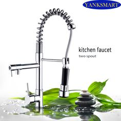 UK New Design Pull Out Faucet Chrome Silver Swivel Kitchen Sink Mixer Tap Kitchen Faucet Vanity Water Taps