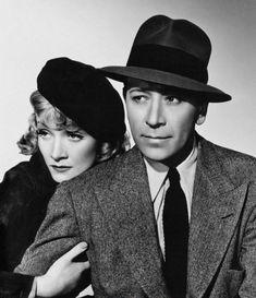 """George Raft y Marlene Dietrich en """"Alta Tensión"""" (Manpower), 1941"""
