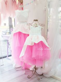 Mouther daughter matching outfits dress pink white Mommy and me Christmas outfits mommy and me dress birthday party wedding prom dress tulle