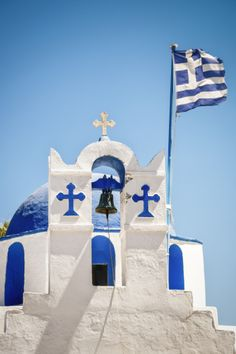 Many people living in Greece are Greek Orthodox. This Greek Orthodox Church in Paros Island, Greece is a beautiful representation of their churches. Albania, Myconos, Greek Blue, Paros Island, Greek Culture, Cathedral Church, Church Building, Christian Church, Place Of Worship