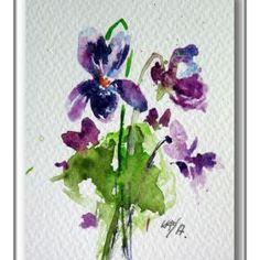 Little violet II (mini artwork) by Kovács Anna Brigitta