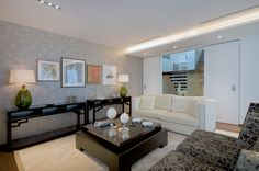 Luxury Living room in Atrium Building - London | SISSY FEIDA INTERIORS