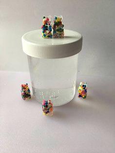 Clear Gummy Bears  Crystal clear slime with 5 gummy bear