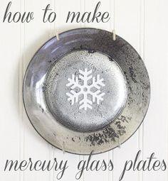 """ The Shabby Creek Cottage "" - Farmhouse & Cottage DIY & Design Blog: how to make mercury glass plates"