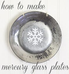 """ The Shabby Creek Cottage "" - Farmhouse & Cottage DIY & Design Blog: how to make mercury glass plates"