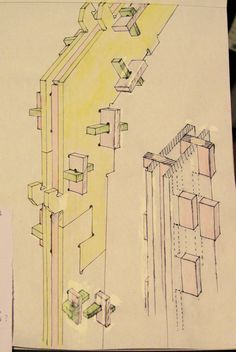 WikiHouse NZ Martin Luff's first sketches for the box-section profiles.