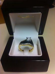 bernard k passman jewelry | Bernard K Passman Black Coral Riverwalk Ring 0 75 Karat Diamond 18K ...