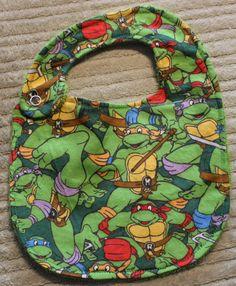 Teenage Mutant Ninja Turtle Bib baby gift by AweBee Designs on Etsy