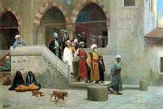 Jean Leon Gerome Leaving The Mosque