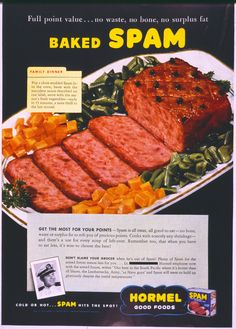 Baked SPAM! #Vintage #Advertising  #Spambrand