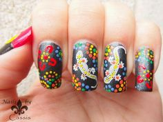 Nails by Cassis: Aboriginal nail art using MoYou London Tourist plates