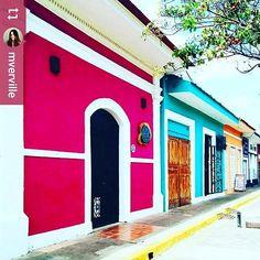 #Follow @mverville: Colorful #architecture of #Granada #Nicaragua #ILoveGranada #AmoGranada #Travel #CentralAmerica #GranadaNicaragua