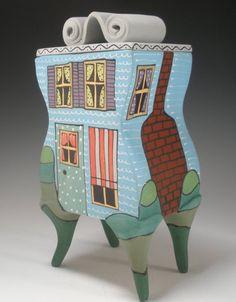 Porcelain Ceramic House Box by Painterly Pots