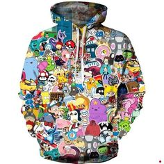 Cartoon Green Sea Turtle Mens Hoodies Soft Cozy Hooded Sweatshirts Sweater Long Sleeve T Shirt
