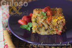 Huumm, hoje temos para o #almoço esta delicia de deliciosa Torta Kibe com Legumes!!    #Receita aqui: http://www.gulosoesaudavel.com.br/2017/04/12/torta-kibe-com-legumes/