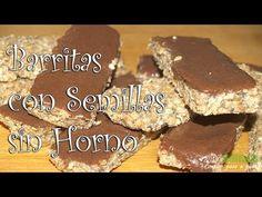Barritas con Semillas y Chocolate sin Horno- Fase Ataque Chocolate Peanuts, Vegan Chocolate, Chocolate Peanut Butter, Peanut Butter Granola, Healthy Baking, Food Videos, Tasty, Snacks, Sweet