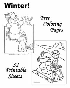 Winter coloring pages!