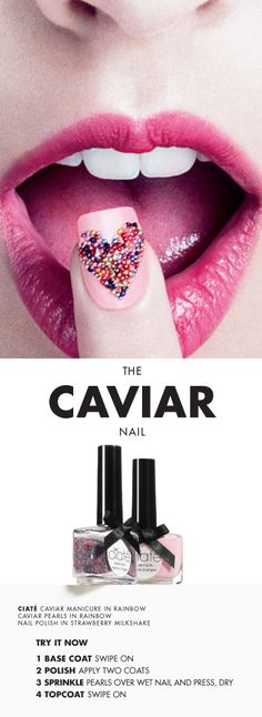 #Se                  QTY12345678910   $25.00           Ciaté Caviar Manicure™    Item #1429562    ColorBlack Pearls - Nail Polish in Ghetto Fabulous (opaque black)/ Caviar Pearls in Black Pearls sephora #nailspotting