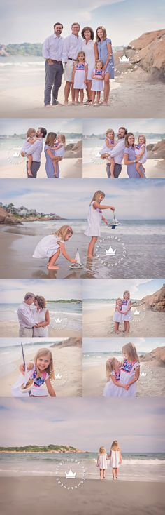 Blog   Heidi Hope Photography Extended family session with sweet sisters on beautiful Massachusetts beach where generations have spent their summers.
