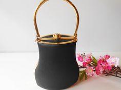 Black Evening Bag Glamorous Black Handbag by LittleBitsofGlamour