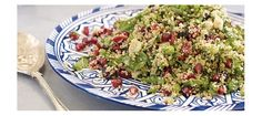 Lebanese Cous Cous Salad With Mint and Pomegranate | Find the Recipe Here: http://www.avoca.com/home/explore/recipes/?category_id=4