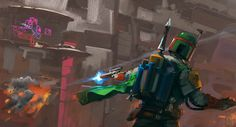 Boba Fett, being awesome.