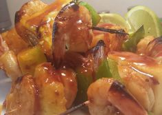 Chili Teriyaki Shrimp and Pineapple kabobs Recipe -  I think Chili Teriyaki Shrimp and Pineapple kabobs is a good dish to try in your home.