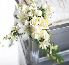 Elegant Funeral Sprays   The FTD® Elegant Remembrance™ Casket Adornment