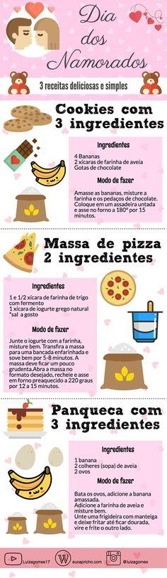 3 receitas fáceis para o Dia dos Namorados