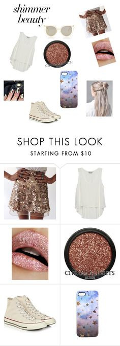 """Shiny af"" by takisaregood ❤ liked on Polyvore featuring Bobeau, Lime Crime, Converse, Nikki Strange and Thierry Lasry"