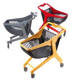 Plastic shopping cart.