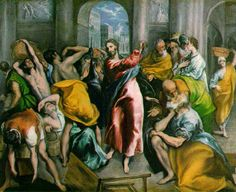 El GRECO, expulsion de los mercaderes del templo
