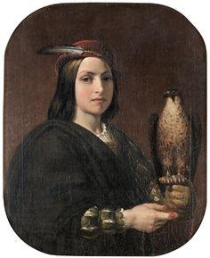 Gustaf Brusewitz (1812-99): 'Falconer'