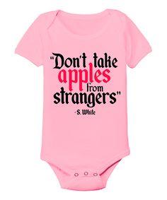 Light Pink 'Do Not Take Apples' Bodysuit - Infant