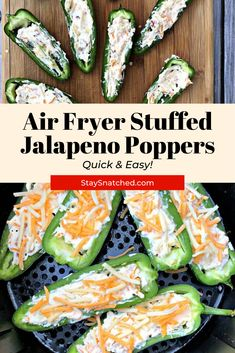 Easy Air Fryer Bacon and Cream Cheese Stuffed Jalapeno Poppers Air Fry Recipes, Milk Recipes, Spicy Recipes, Lunch Recipes, Summer Recipes, Healthy Recipes, Bacon Recipes, Cream Cheese Jalapeno Poppers, Cream Cheese Stuffed Jalapenos