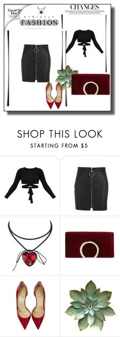 """""""Bez naslova #5"""" by medinicab ❤ liked on Polyvore featuring Jessica McClintock and Christian Louboutin"""