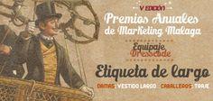 Banner - Etiqueta Cartel de los V Premios Anuales de #Marketing organizados por el Club de #Marketing de #Malaga y celebrados el 30 de octubre de 2013.