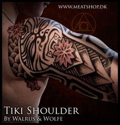 """Tiki shoulder"", by Peter Walrus Madsen & Uffe Be Wolfe."