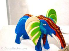 UniquEco Recycled Flip Flop Elephant