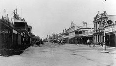 Looking south along Ruthven Street, Toowoomba, 1907