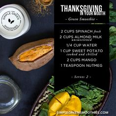 Thanksgiving in your Mouth Green Smoothie: sweet potatoes are great for your hair and in this smoothie you can get all of the vitamins they offer