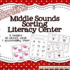 This adorable literacy center includes 5 header cards for the short vowel sounds and 40 pictures cards which provides plenty of opportunities for p...