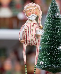 Another great find on #zulily! Late Night Snack Santa Figurine by Lori Mitchell #zulilyfinds
