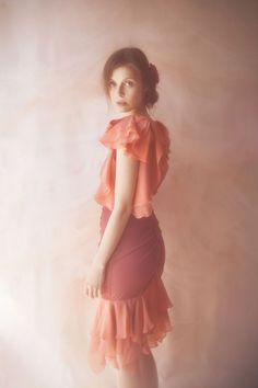 Shop Coral Rose Petal Bolero from Vivienne Mok Photography Shop in Blouses, available on Tictail from Blouses For Women, Women's Blouses, Candy Floss, Rose Petals, Vivienne, Photography Shop, Coral, Ballet Skirt, Skirts