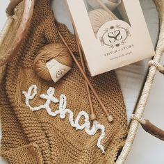 Personalised Baby Blanket Knitting Kit | Stitch & Story - Stitch & Story UK Diy Knitting Kit, Loom Knitting, Baby Knitting, Personalized Baby Blankets, Personalised Baby, Bamboo Knitting Needles, Diy Crafts Crochet, Knit Basket, Knitted Baby Blankets