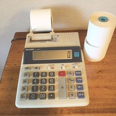 Vintage Office Electronic Calculator Sharp EL 1801A Works Great | Consumer Electronics, Vintage Electronics, Vintage Calculators | eBay!