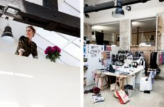 The studio space of French fashion designer, Isabel Marant.