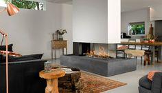 קמין גז בנוי Room Divider Large 3 Frameless - א.ברפמן