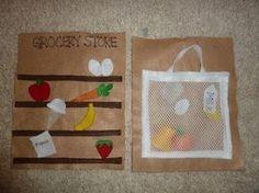 Groceries--quiet book idea by tanisha