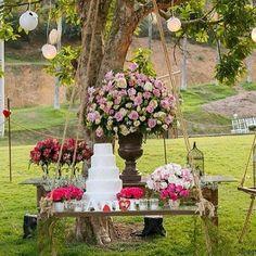 Inspiração de decoração no campo! Via @teconvido!  #prontaparaosim #